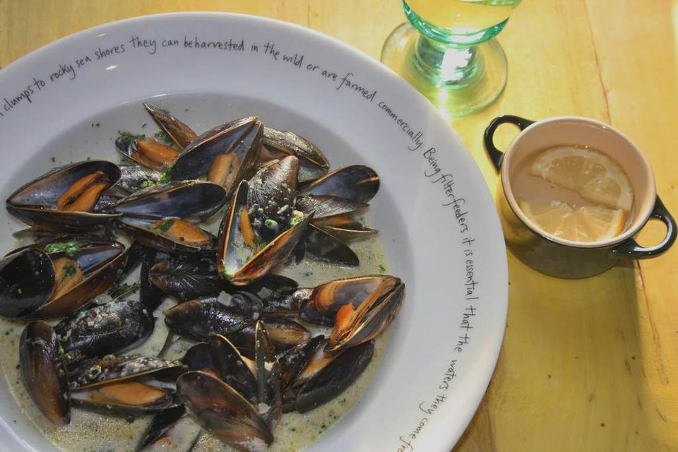 Mussels with Seaweed, using Seaweed Boost