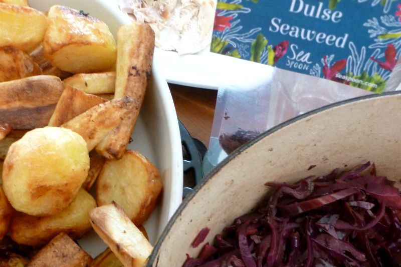 Red Cabbage with Dulse Seaweed | Vegan recipe
