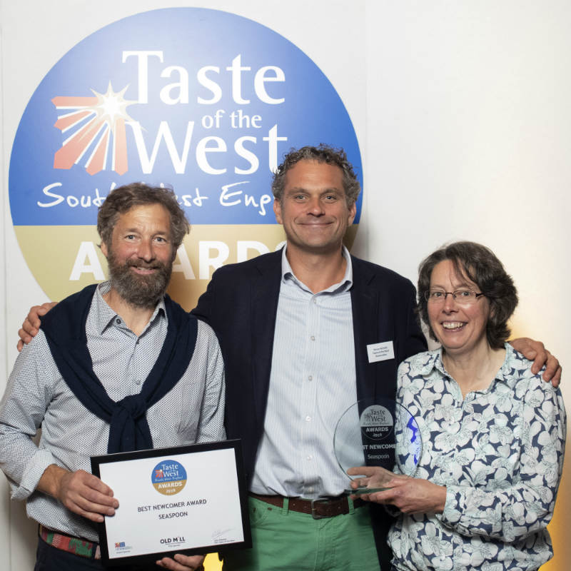 And the Best Newcomer is....Seaspoon! Taste of the West Awards success
