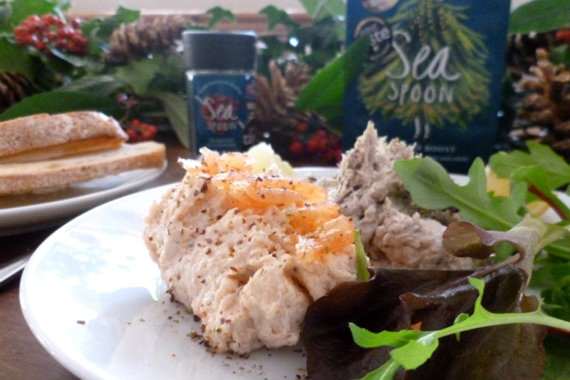 Duo of Smoked Fish Pâtés with seaweed