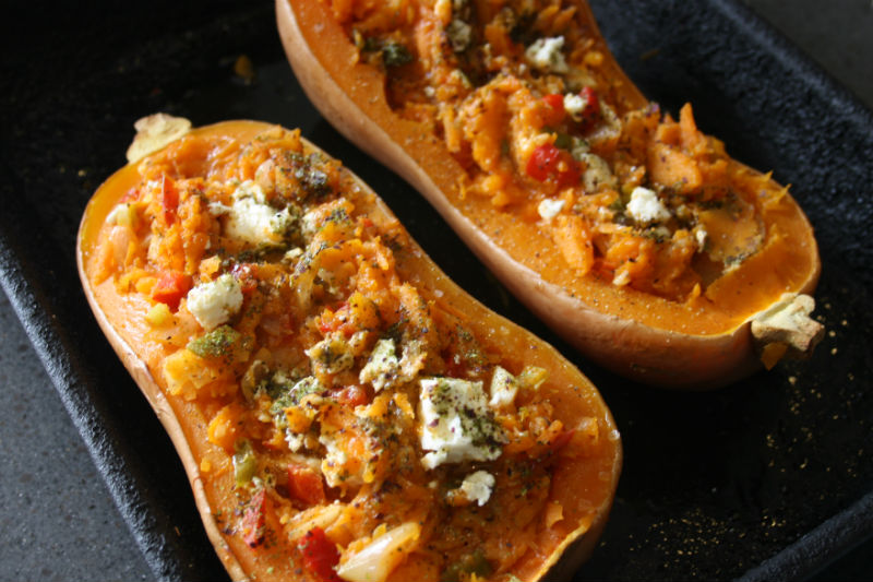 Stuffed Butternut Squash with Seaweed