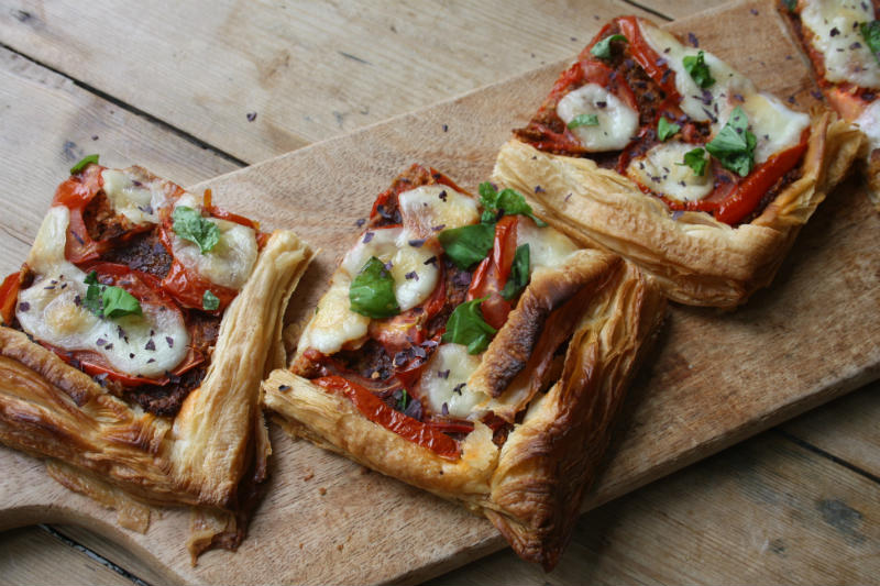 Tomato and Dulse seaweed tart
