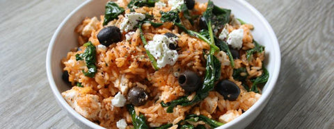 Mediterranean rice with edible seaweed. A vegetarian, gluten-free recipe
