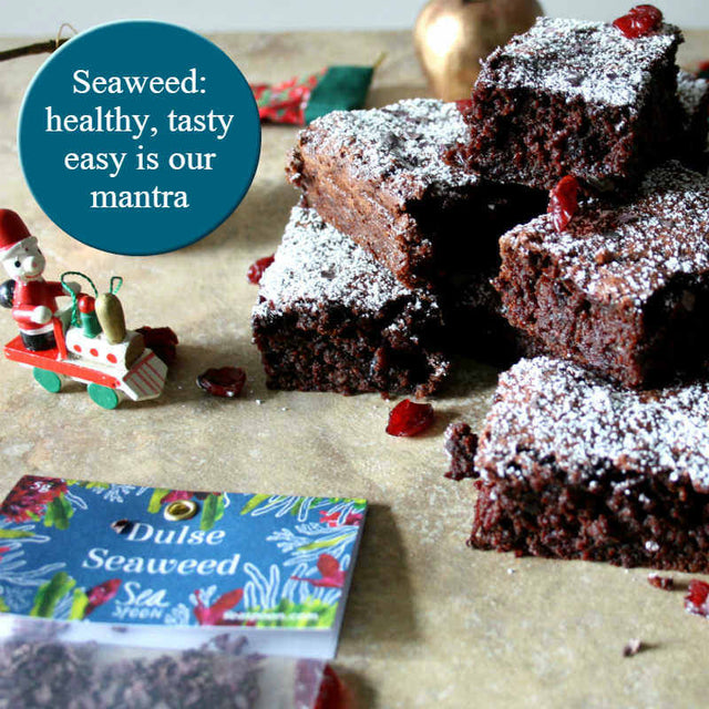 chocolate brownies with seaweed
