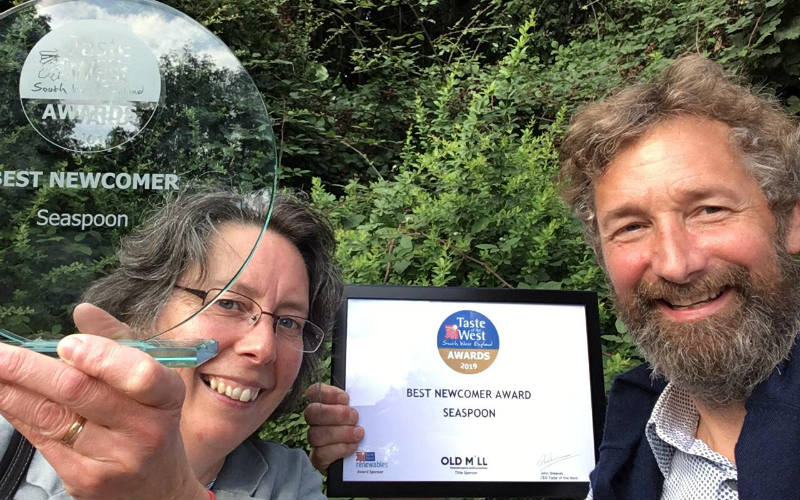 Taste of the west Best Newcomers Awards selfie - tim and kate of Seaspoon