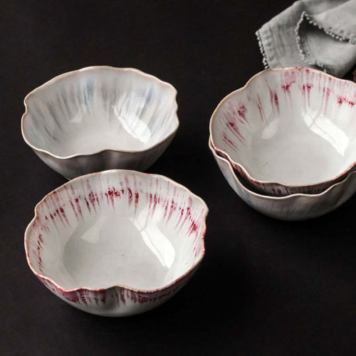 Run Glaze Bowl- Off Pink