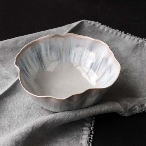 Run Glaze Bowl- Blue