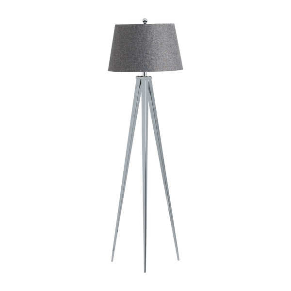 The Genoa Chrome Tripod Floor Lamp