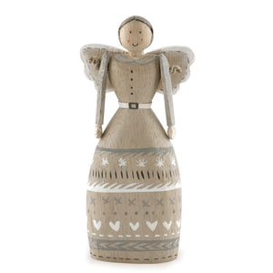 Folkart angel-Grey