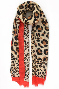Red Leopard Scarf