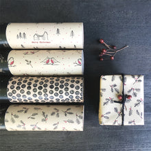 Recycled Forest Christmas Kraft Wrap