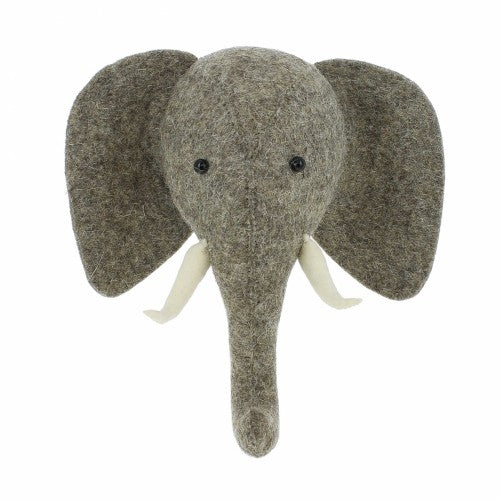 Elephant Head with Trunk Up (semi)