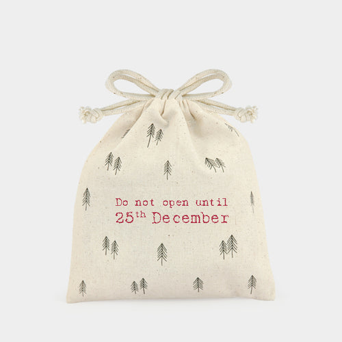 Drawstring bag-Do not open until 25th December