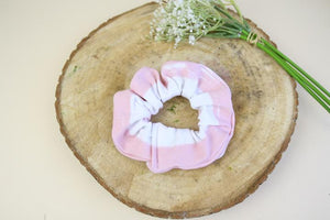 Pink & White Scrunchie
