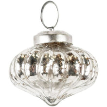 Pumpkin Antique Silver Decoration