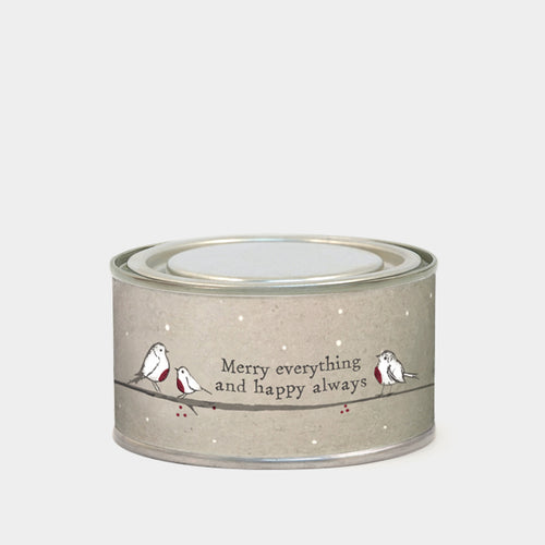Merry Everything & Happy Always Robin Candle