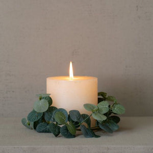 Frosted Eucalyptus Candle Ring