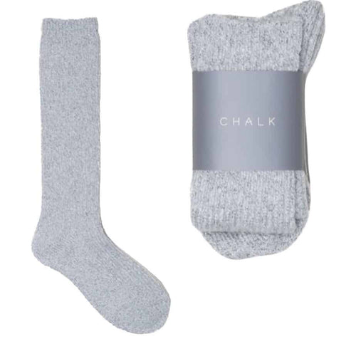 Luxury Light Grey Cosy Socks