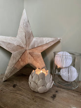 Whitewashed Wooden Star