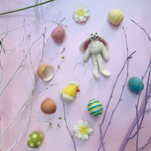 Handmade Felt Baby Chicklet Hanging Easter Decoration
