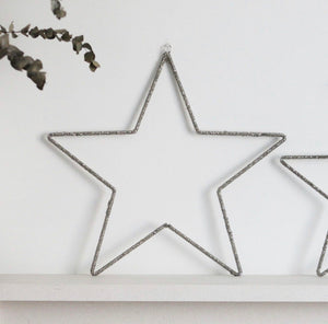 Glass Beaded Silver Star