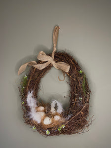 Egg Shaped Easter Wreath
