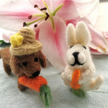 Handmade Felt Hazel the Dog Hanging Easter Decoration Easter
