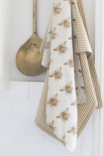 Recycled Honey Bee Tea Towel 2 Pack