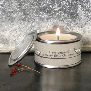 Have Yourself A Merry Christmas Robin Candle