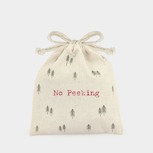 Drawstring bag-No peeking