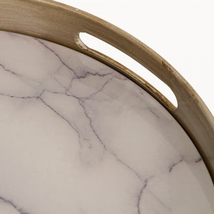 Marbled Round Tray