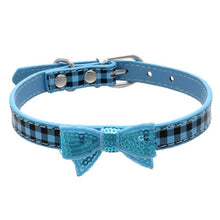 Dog Collar with Sequins Bow knot