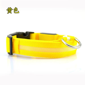 LED Pet dog Collar, Night Safety Glow In The Dark Dog Collar