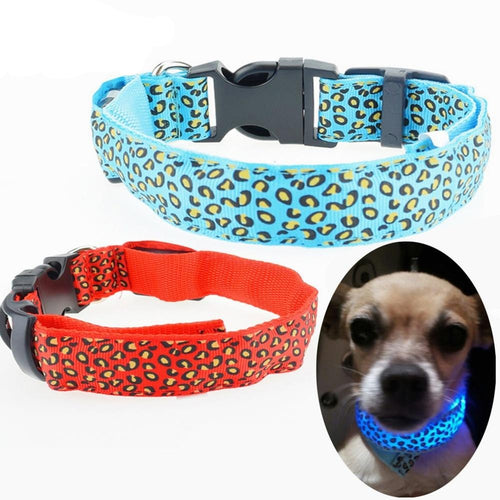 Leopard Style LED Light Collar