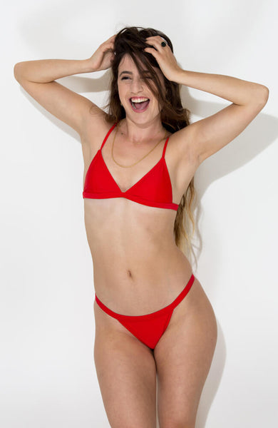 red vitoria bikini set2
