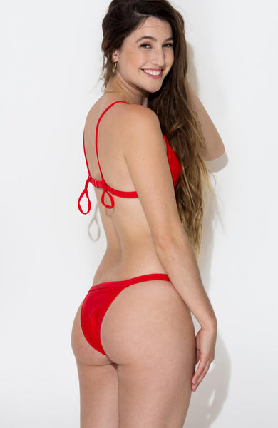 red vitoria bikini set