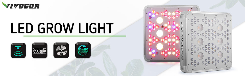 VIVOSUN 1200W Cree COB Led Grow Light Full Spectrum