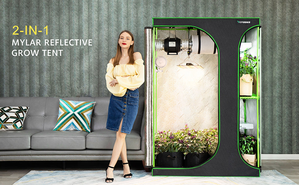 VIVOSUN 2-in-1 5x4 Grow Tent 60''x48''x80''