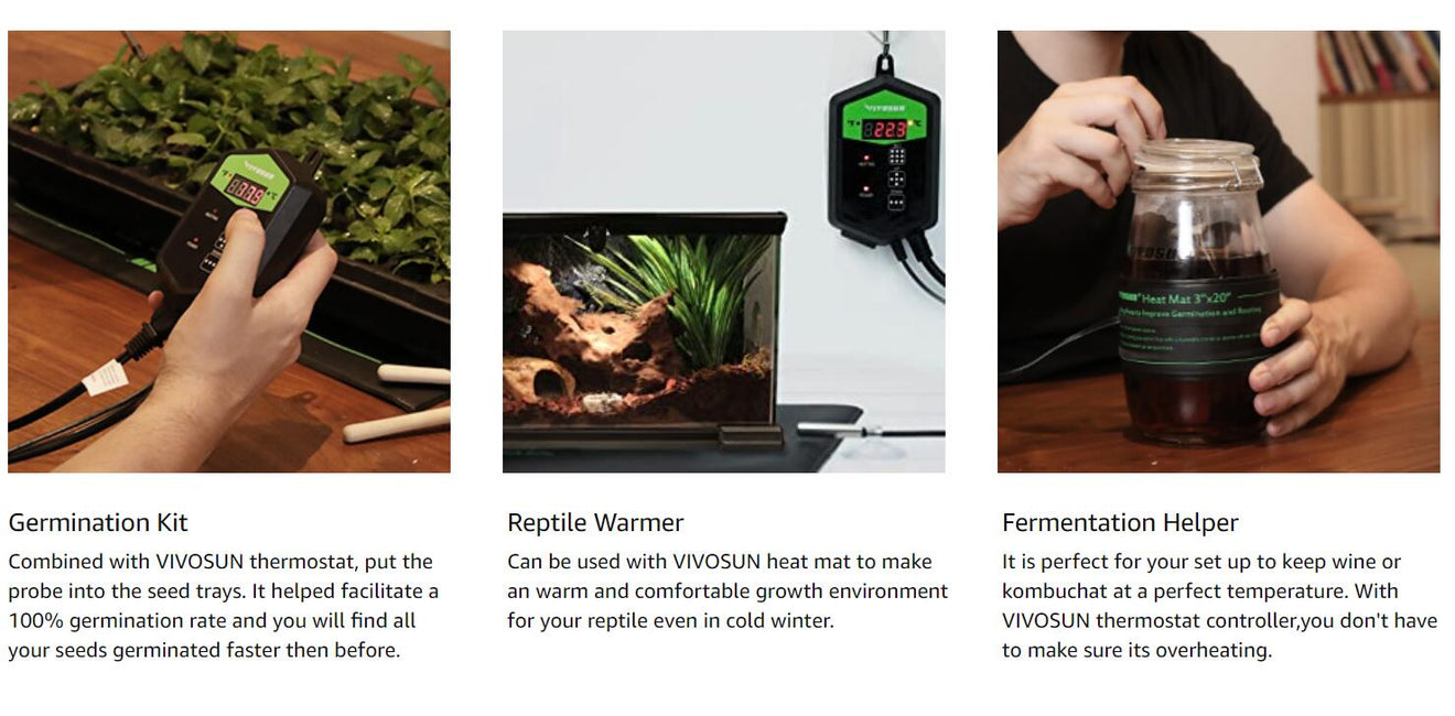 VIVOSUN Seedling Heat Mat Thermostat