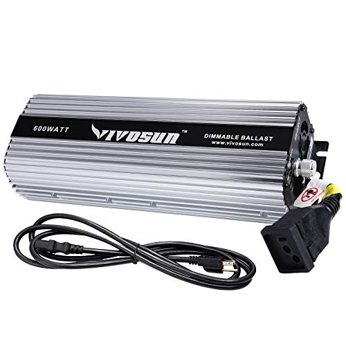 VIVOSUN 600 WATT DIMMABLE DIGITAL BALLAST FOR HPS MH GROW LIGHT - VIVOSUN
