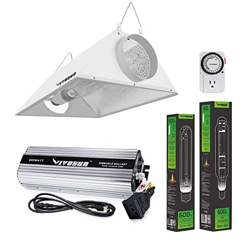 VIVOSUN Hydroponic 600 Watt HPS MH Grow Light Air Cooled Reflector Kit - VIVOSUN