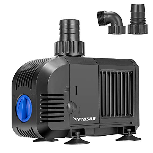 VIVOSUN 800GPH Submersible Pump(3000L/H, 55W)