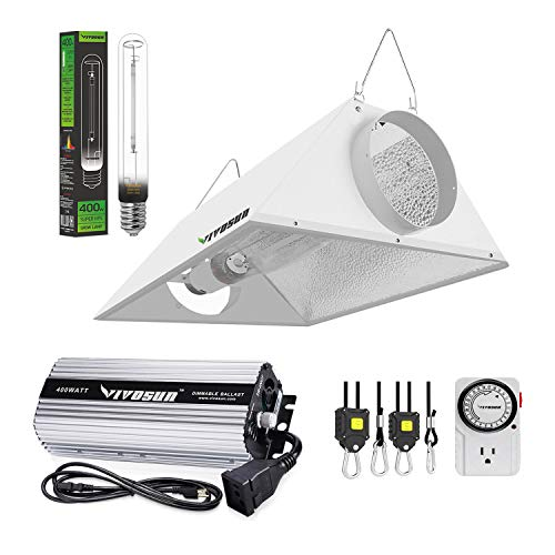 VIVOSUN Hydroponic 400 Watt HPS Grow Light Air Cooled Reflector Kit - VIVOSUN