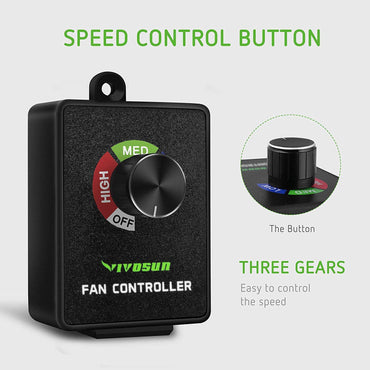 VIVOSUN Inline Duct Fan Speed Controller - VIVOSUN