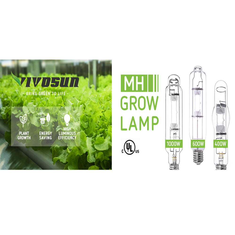 VIVOSUN Vegetative MH Grow Light Bulb 2-Pack - VIVOSUN