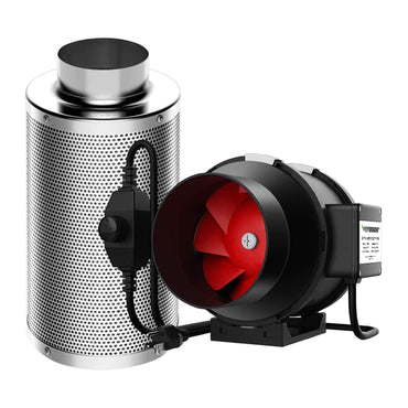 VIVOSUN 6 Inch 390 CFM Inline Duct Fan with Carbon Filter - VIVOSUN