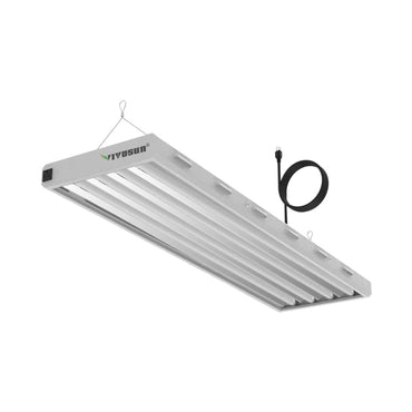 VIVOSUN 6500K T5 HO Fluorescent Grow Light Fixture 4FT 4 Lamps - VIVOSUN