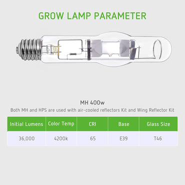 VIVOSUN 400 Watt Vegetative MH Grow Light Bulb - VIVOSUN