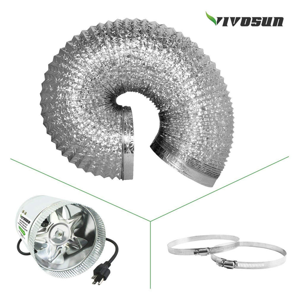 "VIVOSUN Air Aluminum Ducting 6"" 16 ft - VIVOSUN"