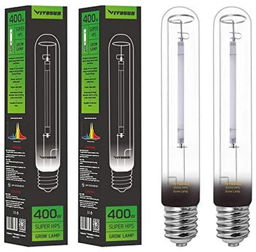 VIVOSUN 400W HPS Grow Light Bulb 2-Pack - VIVOSUN